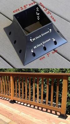 4x4 Post Base Anchor Flange Deck Post Mount