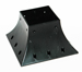 4x4 Post Support post holder Pro Version 4x4 post support flange