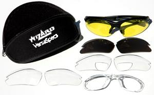Prescription Insert Safety Glasses Versa Specs Multi-Lens Sunglasses with Interchangeable Lenses