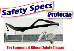 Protecto Economical Style Adjustable Bifocal Safety Glasses