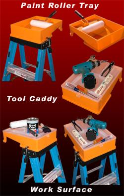 Secure Tray. Portable Paint Tray and Tool Kaddy.