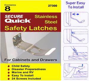 Safety Cabinet Latches Stainless Steel Earthquake Latches