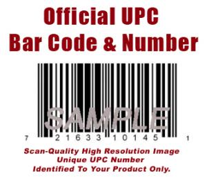 Amazon UPC number barcode graphic - UPC Codes - UPC Numbers - UPC Graphics, Order single or multiple bar code graphics and UPC numbers.