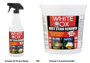 White Ox Well Water Rust Stain Remover