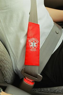 Rescue Facts Medical ID Seatbelt Strap