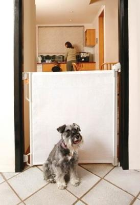 Bindaboo Retractable Pet Gate is perfect for indoor and outdoor use. It fits large openings up to 55