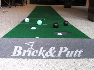 Golf Putting Game Brick and Putt