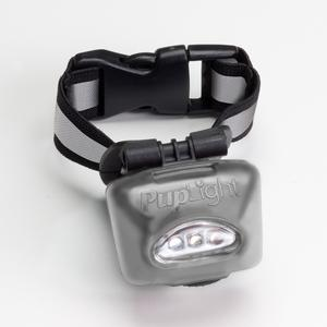 Dog Safety LED Lighted Collar - PupLight2 - Silver