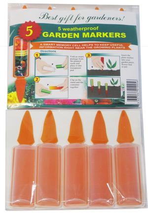 Pack of 5 Seed packet plant markers