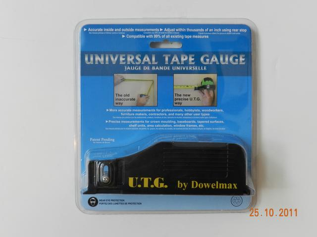 The Universal Tape Gauge is a new and patented tool for use with any ...