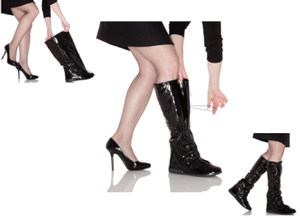 PYSIS Overboots Over-The-Heel Boots for Women