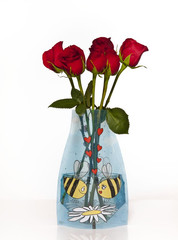 Flower Vase, Reva expanding flower vase hold large bouquets, perfect for any setting