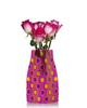 Reva Vase Pop Pink, Purple, Yellow Expanding Flower Vase