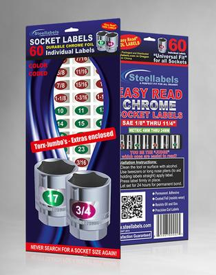 Chrome Socket Labels: Torx, Jumbo Sizes & Extras