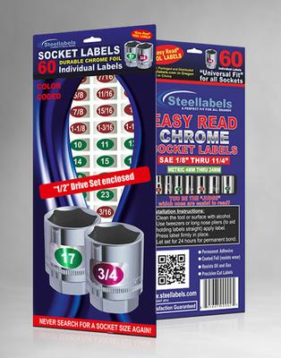 Chrome Socket Labels: 1/2
