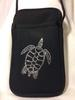 Pami Pocket Neoprene Cell Phone Purse with Rhinestone Turtle