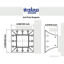 Wizard Industries Heavy Duty High Strength post Support